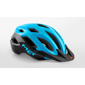 MET Crossover Casque, cyan/black glossy